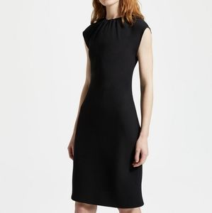 Theory Classic Crepe Shirred Neck Dress NWT